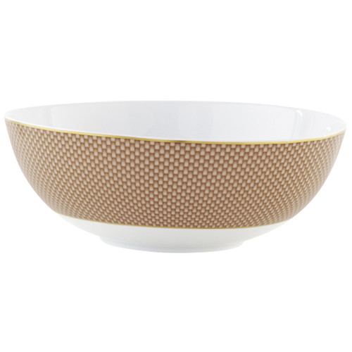 Beige Large Salad Bowl, 10 2/5 inch, 66 5/7 ounce | Raynaud Uni Tresor