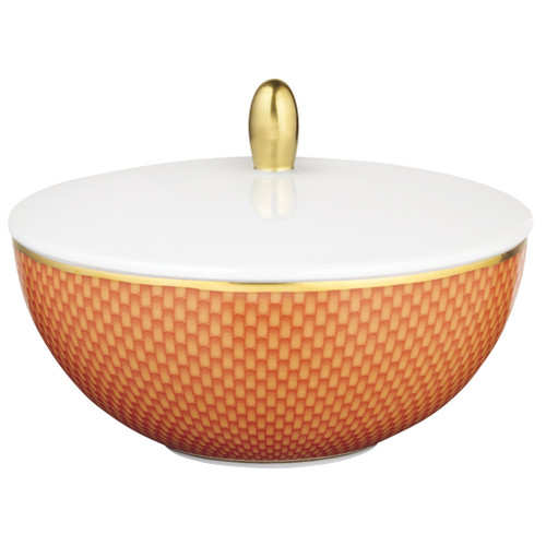 Orange Sugar Bowl, 4 3/5 inch, 6 4/5 ounce | Raynaud Uni Tresor