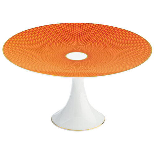 Orange Petit Four Stand Medium, 8 2/3 inch | Raynaud Uni Tresor