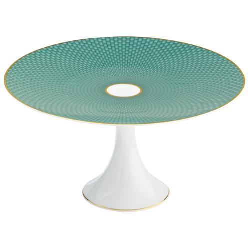 Turquoise Medium Petit Four Stand, 8 2/3 inch | Raynaud Uni Tresor