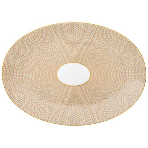 Orange Large Oval Dish | Raynaud Uni Tresor