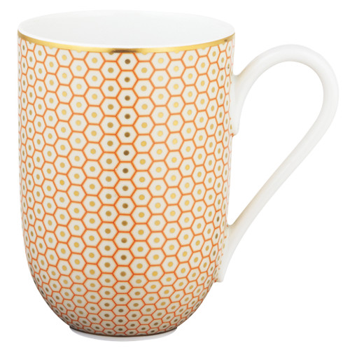 Orange Mug, 3 1/9 inch, 10 ounce | Raynaud Uni Tresor
