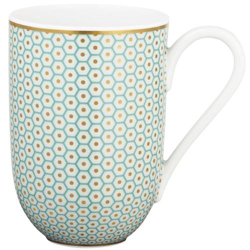 Turquoise Mug, 3 1/9 inch, 10 ounce | Raynaud Uni Tresor