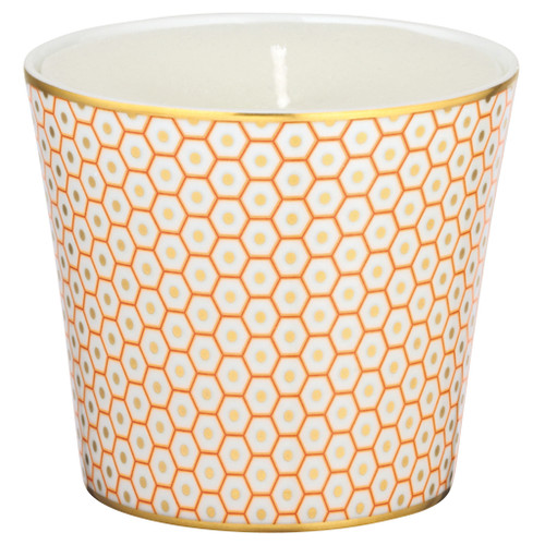 Orange Candle Pot, 3 2/7 inch | Raynaud Uni Tresor