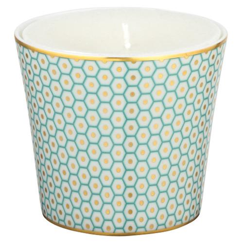 Turquoise Candle Pot, 3 2/7 inch | Raynaud Uni Tresor