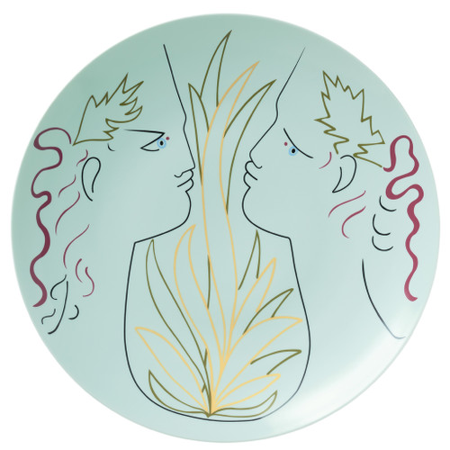 Large Bowl, 16 inch | Raynaud Jean Cocteau Green