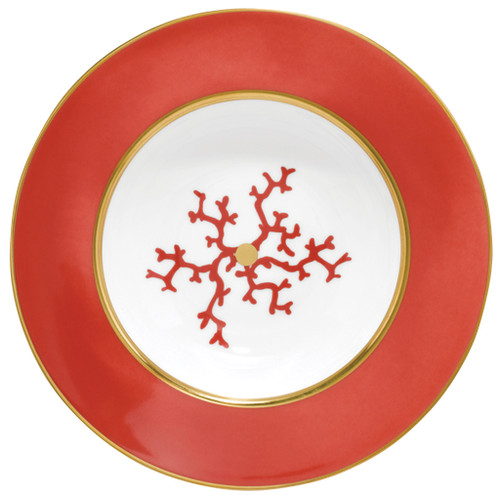 Rim Soup Plate, 8 1/3 inch, 7 2/5 ounce | Raynaud Menton Cristobal - Coral