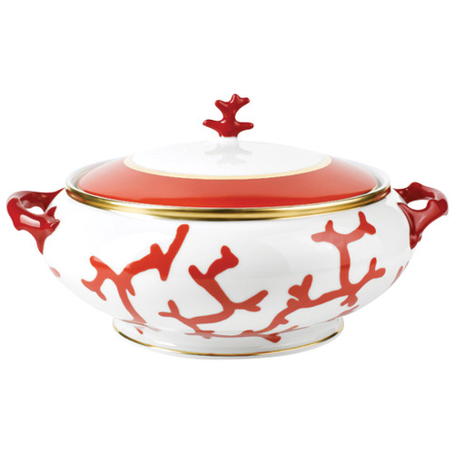 Soup Tureen, 59 1/9 ounce | Raynaud Menton Cristobal - Coral