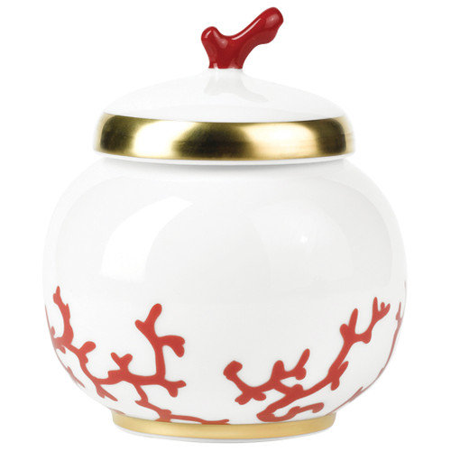 Sugar Bowl, 2 2/5 inch, 8 2/5 ounce | Raynaud Menton Cristobal - Coral