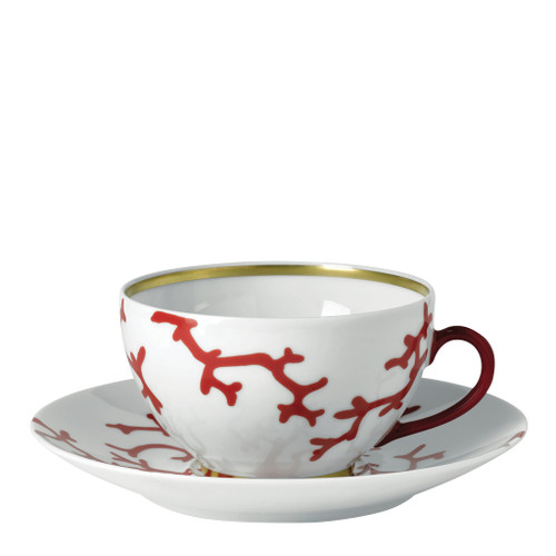 Breakfast Saucer, 7 inch | Raynaud Menton Cristobal - Coral