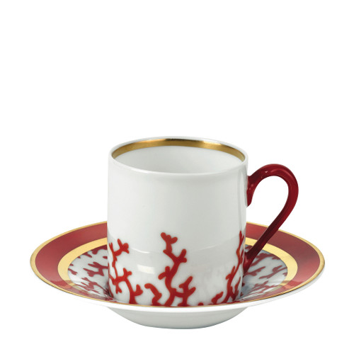 Coffee Saucer, 5 inch | Raynaud Menton Cristobal - Coral