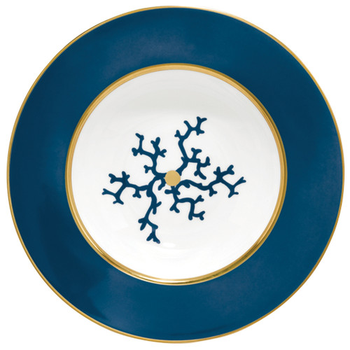 Rim Soup Plate, 8 1/3 inch, 7 2/5 ounce | Raynaud Menton Cristobal - Marine