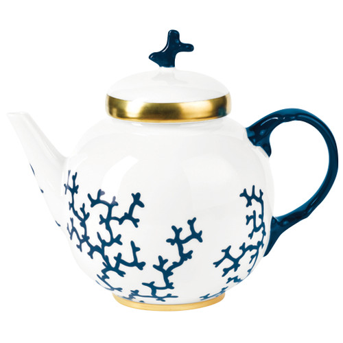 Tea Pot, 2 4/5 inch, 35 1/9 ounce | Raynaud Menton Cristobal - Marine