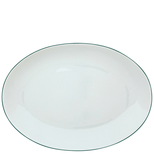 Oval Dish Medium | Raynaud Uni Monceau - Peacock Blue