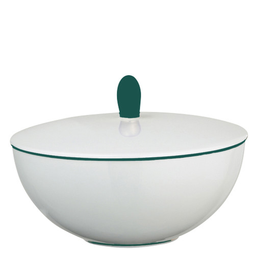 Sugar Bowl, 4 3/5 inch, 6 4/5 ounce | Raynaud Uni Monceau - Peacock Blue