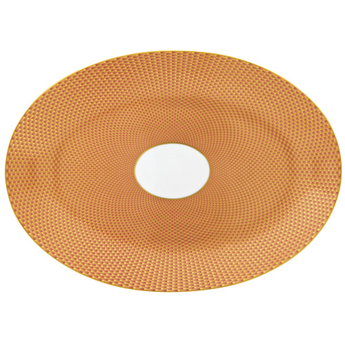 Orange Medium Oval Dish | Raynaud Uni Tresor