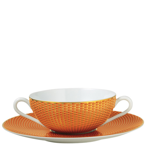 Orange Cream Soup Saucer, 7 1/2 inch | Raynaud Uni Tresor