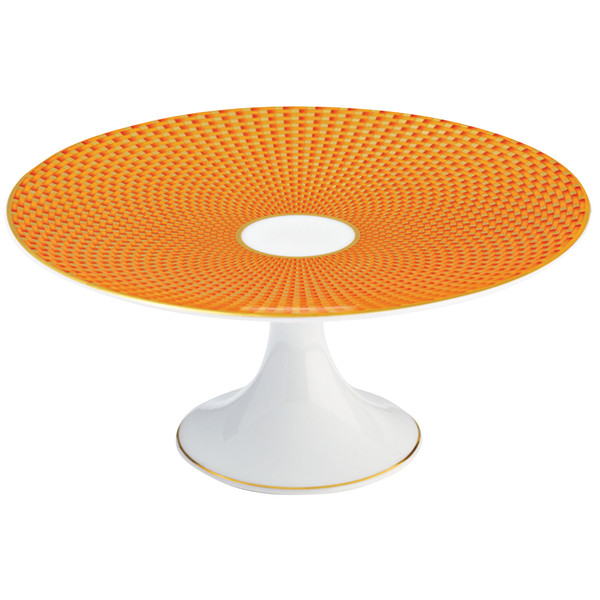 Orange Petit Four Stand Small, 6 2/5 inch | Raynaud Uni Tresor