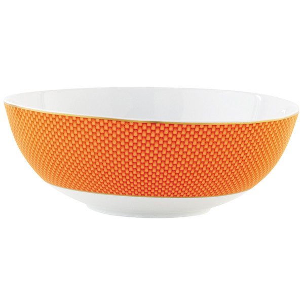 Orange Large Salad Bowl, 10 2/5 inch, 66 5/7 ounce | Raynaud Uni Tresor