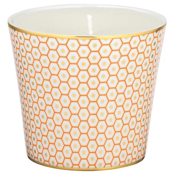 Orange Candle Pot, 3 2/7 inch | Raynaud Uni Tresor
