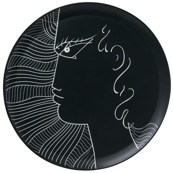 Large Platter, 18 inch | Raynaud Jean Cocteau Noir