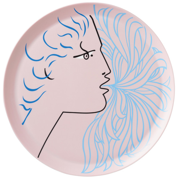 Large Platter, 18 inch | Raynaud Jean Cocteau Rose