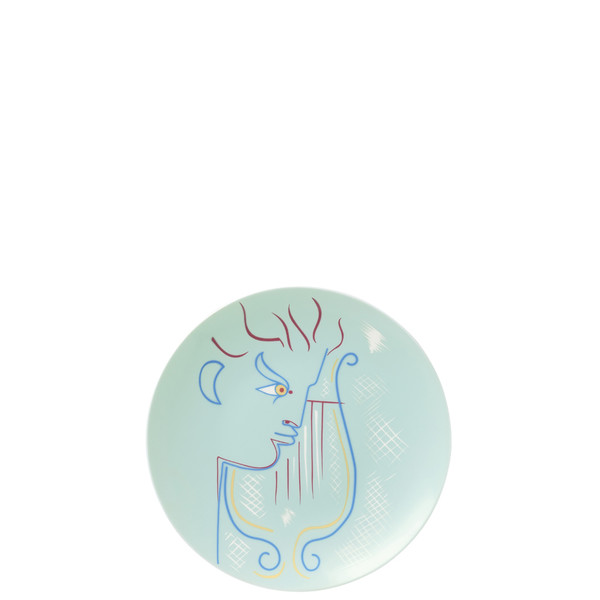Coupe Plate, flat, 8 1/3 inch | Raynaud Jean Cocteau Green