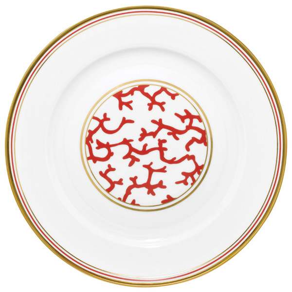 Chop Plate, 11 3/5 inch | Raynaud Menton Cristobal - Coral