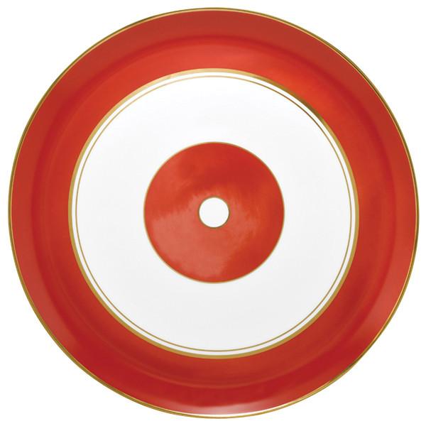 Flat Cake Plate, 12 1/5 inch   Raynaud Menton Cristobal - Coral
