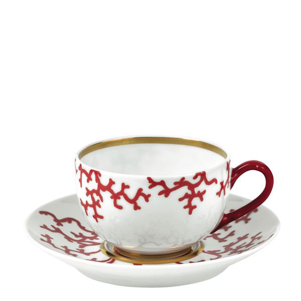 Tea Cup, 3 3/5 inch, 8 2/5 ounce | Raynaud Menton Cristobal - Coral