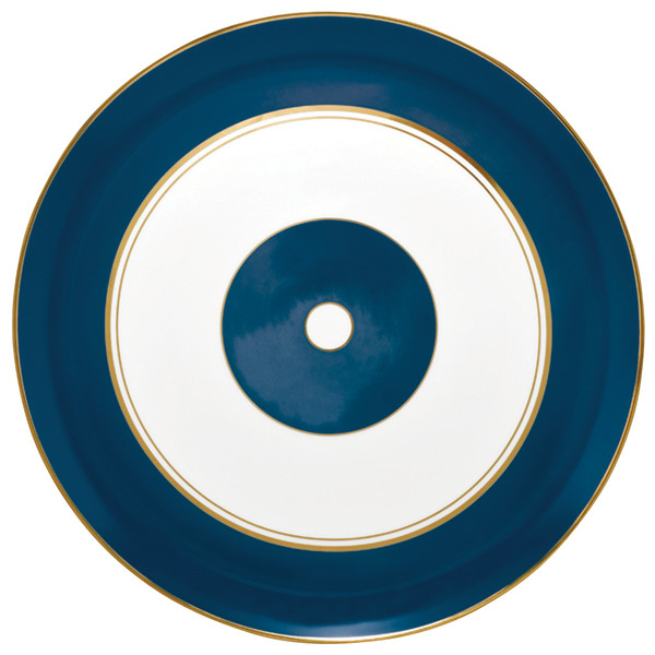 Flat Cake Plate, 12 1/5 inch   Raynaud Menton Cristobal - Marine
