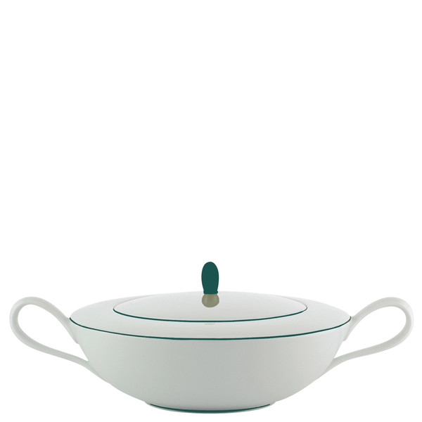 Soup Tureen, 10 1/5 inch, 66 5/7 ounce | Raynaud Uni Monceau - Peacock Blue