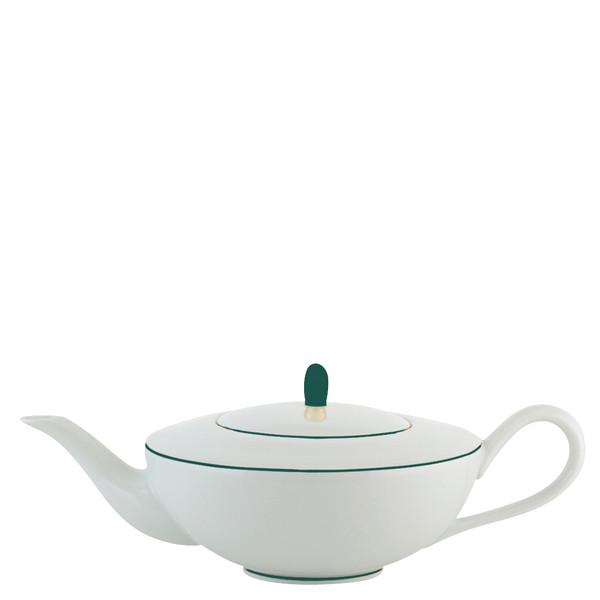 Tea / Coffee Pot, 33 2/5 ounce | Raynaud Uni Monceau - Peacock Blue