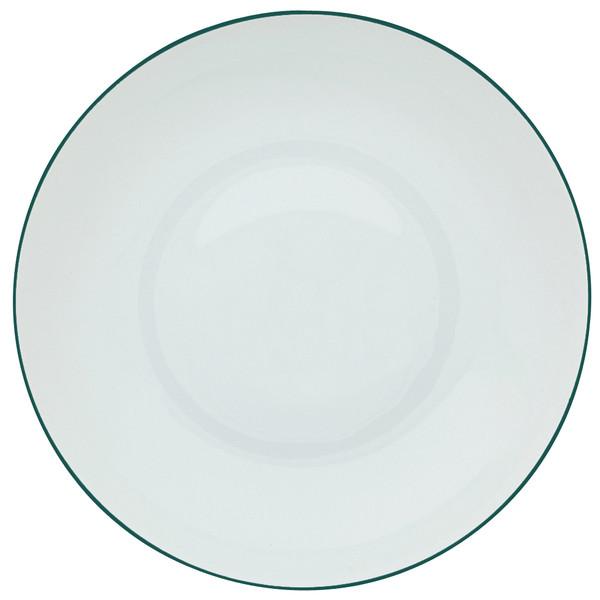 Rim Soup Plate, 10 3/5 inch, 47 2/7 ounce | Raynaud Uni Monceau - Peacock Blue