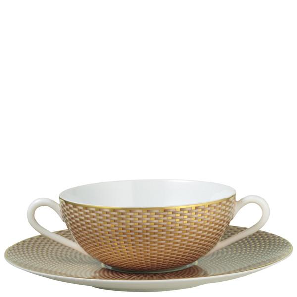 Beige Cream Soup Cup, 4 3/5 inch | Raynaud Uni Tresor
