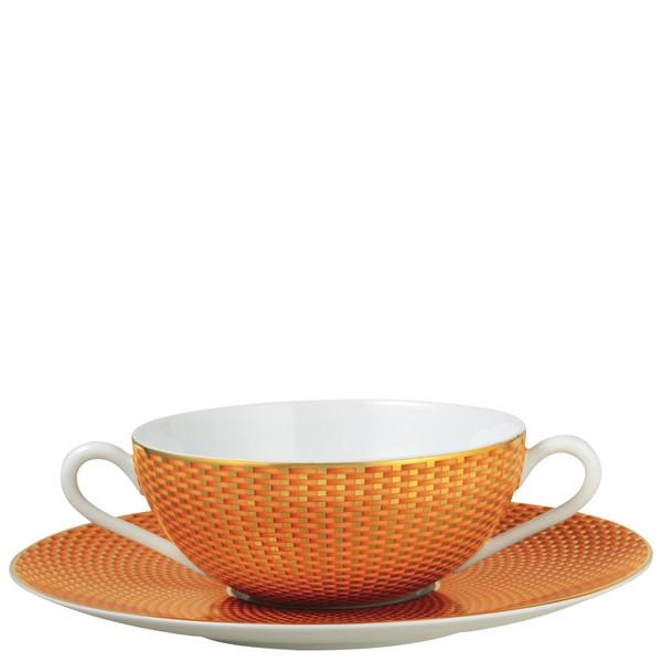 Orange Cream Soup Cup, 4 3/5 inch | Raynaud Uni Tresor