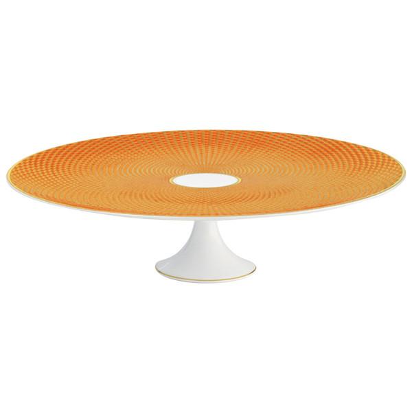 Orange Petit Four Stand Large, 10 3/5 inch   Raynaud Uni Tresor