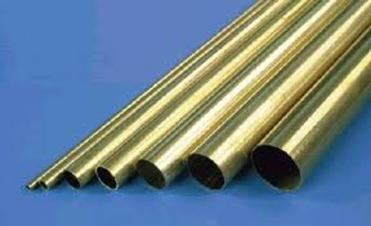 K&S 3mm Round brass tube x 4 pieces