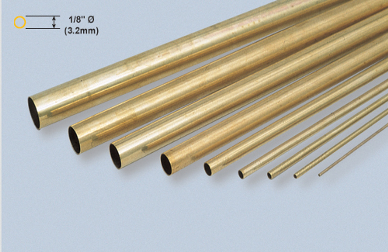 "K&S 128 Brass 5/32"" Round brass tube"