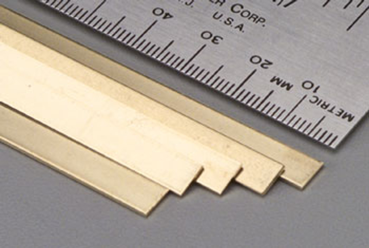 "K&S 234 0.16"" x 2"" Brass Strip"