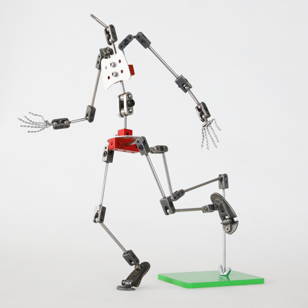 Humanoid armature shown with Aardman Armatures Rig Kit (not included).