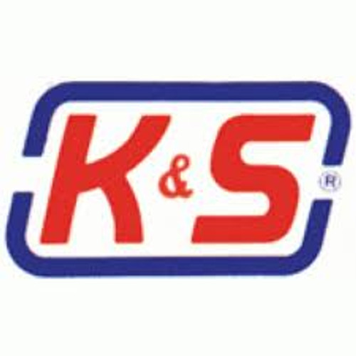 "K&S 126 Brass 3/32"" Round brass tube x 3"