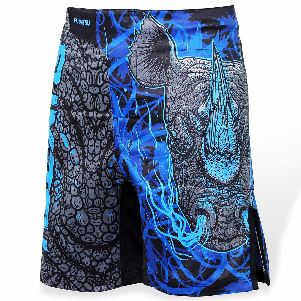 Fumetsu Kids Rampage Fight Shorts Black/Blue