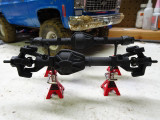 Front and rear leafed for RC4WD TF2, shown with NCScale60 Ribbed Diff Cover on front axle and NCScale60 Smooth Diff Cover on rear axle