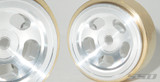 "1.0"" Aluminum / Brass Slot Beadlock Wheels"