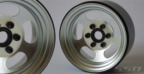 """SSD 1.9"""" Steel Slot (Silver) Beadlock Wheels"""