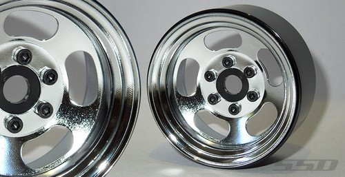 "SSD 1.9"" Steel Slot (Chrome) Beadlock Wheels"