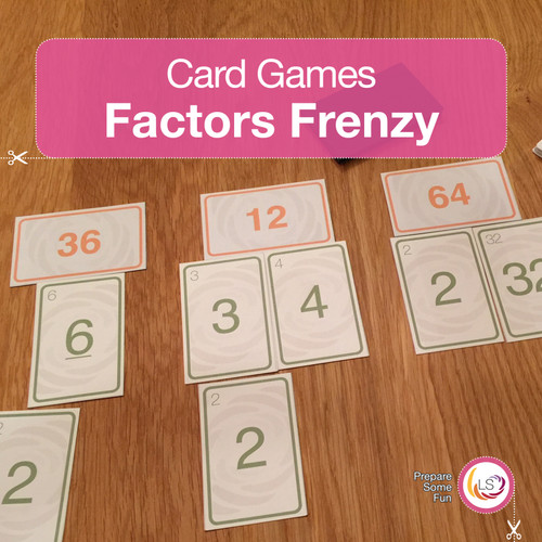 Factors Frenzy Card Game