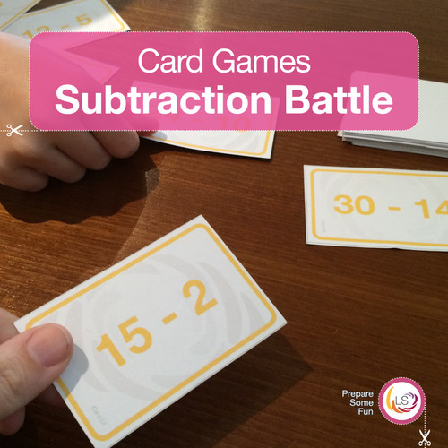 Subtraction Battle Card Game