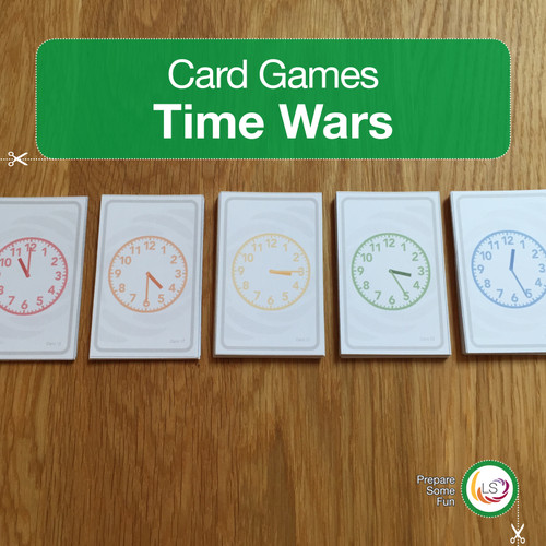 Time Wars Card Game with Clocks